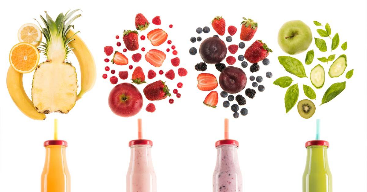 ingestão sumos fruta pensar nutrição