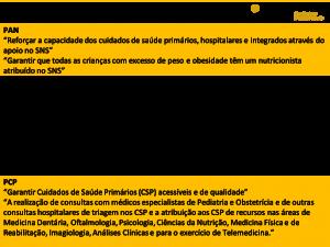 Propostas dos partidos políticos para área da alimentação e nutrição nas legislativas de 2019 6