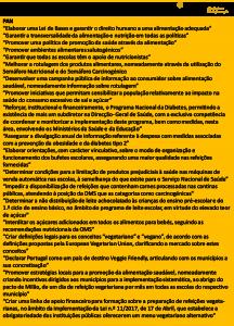 Propostas dos partidos políticos para área da alimentação e nutrição nas legislativas de 2019 8